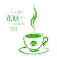 Cup of green coffee vector image