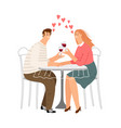 dating in cafe vector image