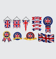 decoration or background united kingdom flag vector image vector image