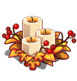 decorative element on theme of christmas and new vector image vector image