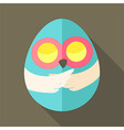 Easter owl egg shaped vector image vector image