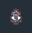 emblem a cyclist on a mountain bike sport bike vector image
