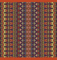 ethnic seamless boho geometric striped pattern vector image
