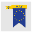european union day design vector image