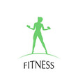 fitness club logotype vector image