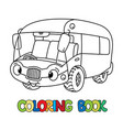 funny bus or van with eyes coloring book vector image vector image