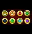 gold premium sale badges set vector image vector image