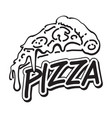 graphic pizza vector image vector image