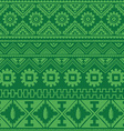 green native american ethnic pattern vector image vector image