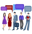 Group business people isolated men women girls vector image