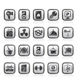 Hotel and motel services icons 2 vector image vector image