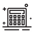 icon calculator icon modern outline icon for any vector image vector image
