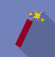 Icon of Dynamite with sparkles Flat style vector image vector image