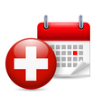 Icon of National Day in Switzerland vector image vector image