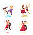 international dance day 2x2 compositions vector image