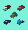 isometric automobile set of freight armored vector image vector image