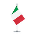 italian flag hanging on the metallic pole vector image