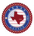 label sticker cards state texas usa vector image