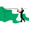 landing page templates for dancing blog vector image vector image