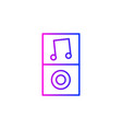 mp3 player icon vector image