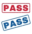 Pass Rubber Stamps vector image vector image