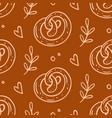 pastry sweet bakery seamless pattern vector image vector image