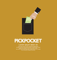 Pickpocket vector image vector image