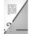 question mark symbol dark infographics vector image vector image