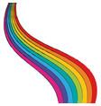 rainbow on white background vector image