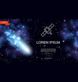 realistic colorful outer space background vector image vector image