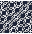 Seamless nautical rope pattern - Square knots vector image vector image