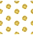 Seamless pattern with gold shine glitter dots on vector image vector image