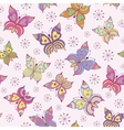 seamless pattern witn colorful butterflies vector image vector image