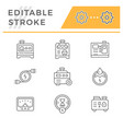 set line icons electrical generator vector image vector image