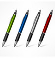 set of colored pens on white vector image vector image