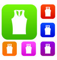 sleeveless shirt set color collection vector image