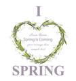 snowdrops wreath spring card realistic vector image
