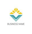 square shine business company logo vector image