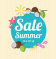 summer holiday sale night party vector image