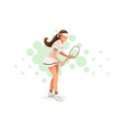 tennis match pose vector image vector image