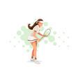 tennis match pose vector image