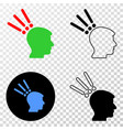 Test head eps icon with contour version