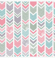 textured folk floral chevron great for home decor vector image vector image