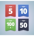 Top rating badges vector image vector image
