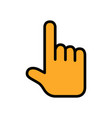 touching or pointing hand flat icon vector image vector image