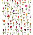 tulip varieties flat seamless pattern garden vector image