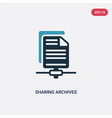 two color sharing archives icon from seo web vector image vector image