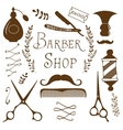 Vintage barber shop objects collection vector image vector image