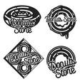 vintage donuts store emblems vector image vector image