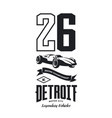 vintage sport vehicle logo vector image vector image